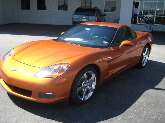 Atomic Orange 2009 GM Corvette
