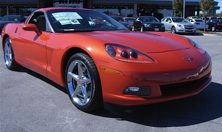 Inferno Orange 2012 GM Chevrolet Corvette