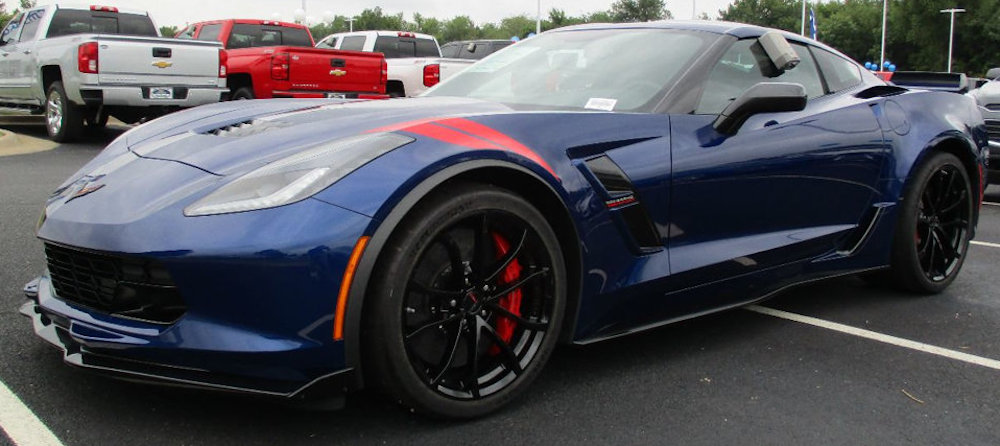 Admiral Blue 2017 GM Chevrolet Corvette