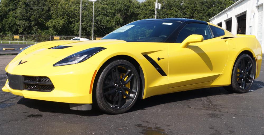 Corvette Racing Yellow 2017 GM Chevrolet Corvette Z51