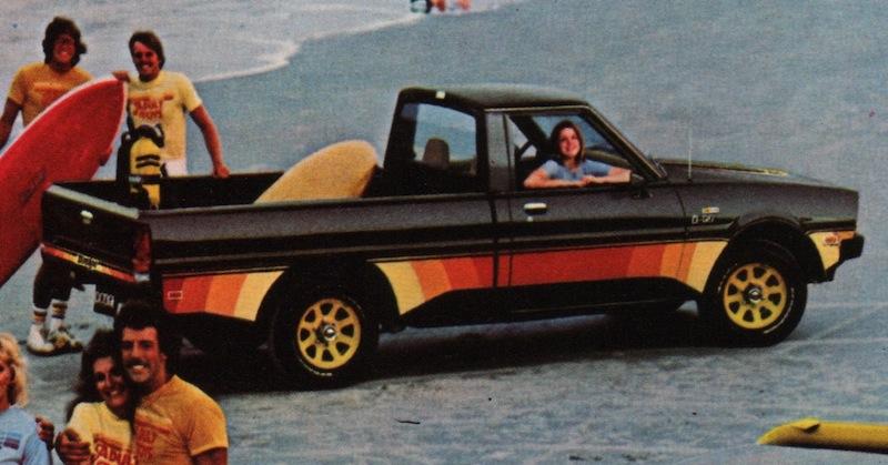 Black 1980 Dodge Truck D50 Pickup