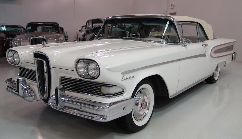 Example Of Snow White Paint On A 1958 Ford Edsel