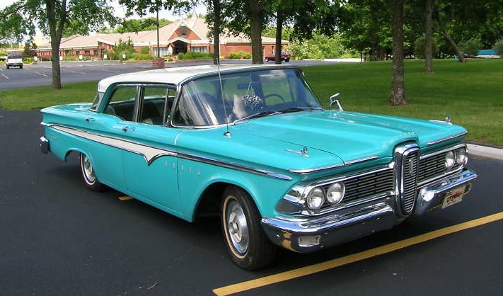 Example Of Light Aqua Paint On A 1959 Ford Edsel
