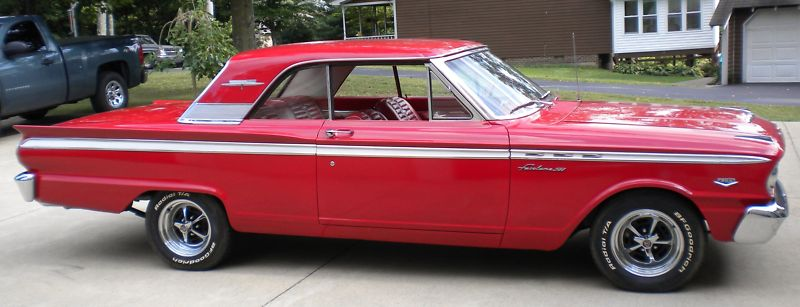Rangoon Red 1963 Ford Fairlane 500 Sports Coupe