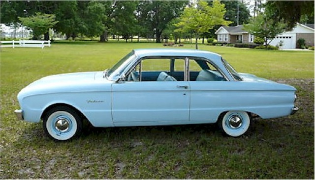 Sky Mist Blue 1960 Ford Falcon
