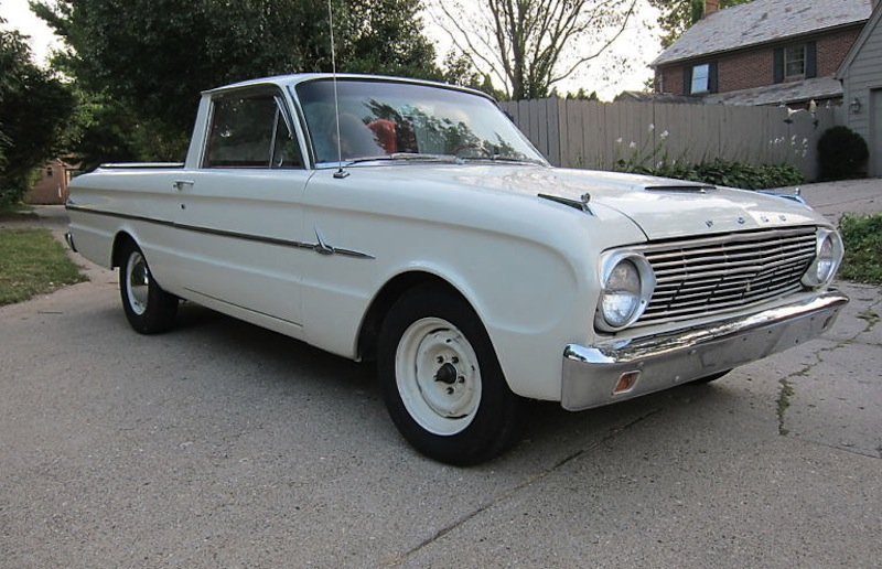 Corinthian White 1963 Ford Falcon Ranchero
