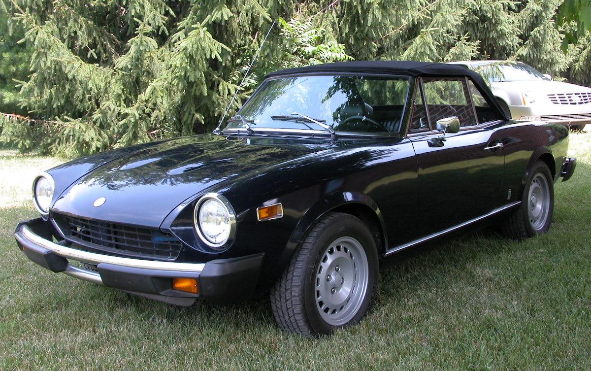 Dark Blue 1976 Fiat  Spider