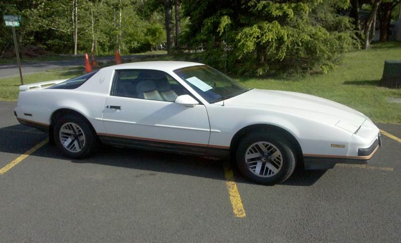 White 1988 GM Firebird