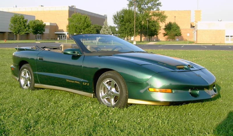 Dark Green 1997 GM Firebird