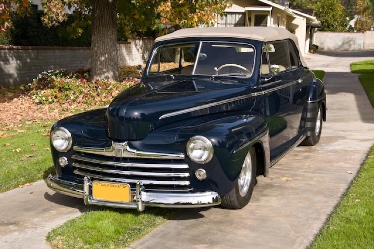 Navy Blue 1946 Ford