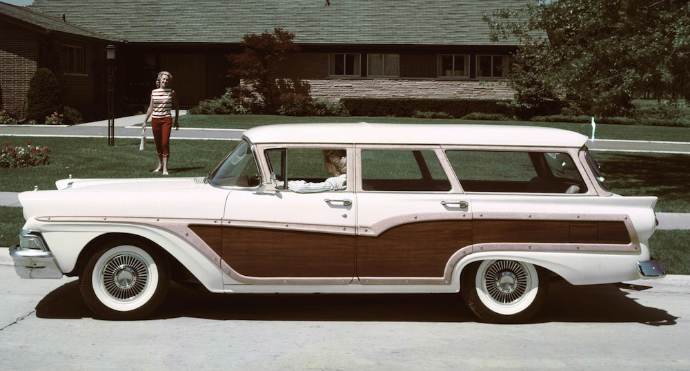 Colonial White 1957 Ford Country Squire Station Wagon - Paint Cross