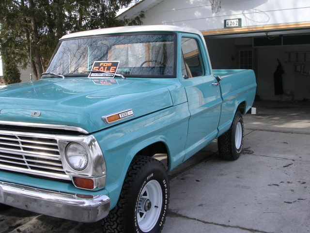Peacock Blue 1968 Ford Truck