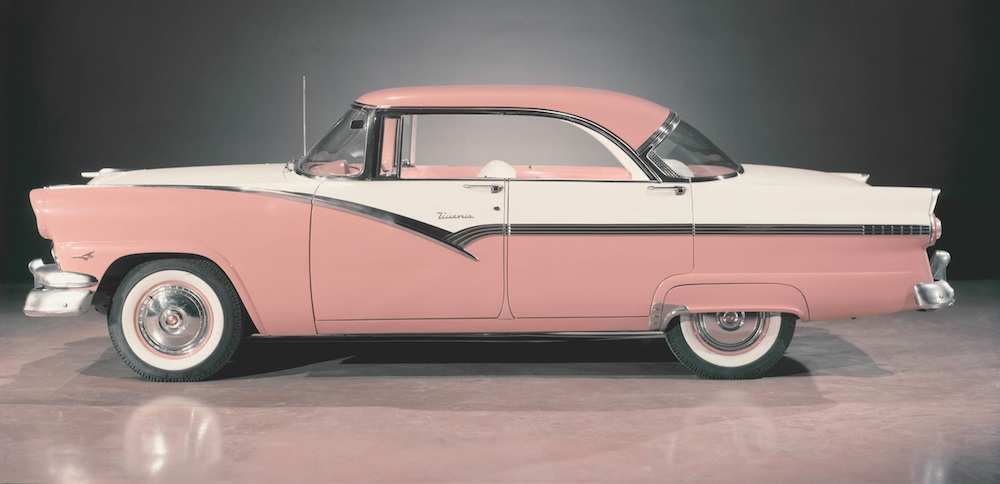 Sunset Coral 1956 Ford  Victoria