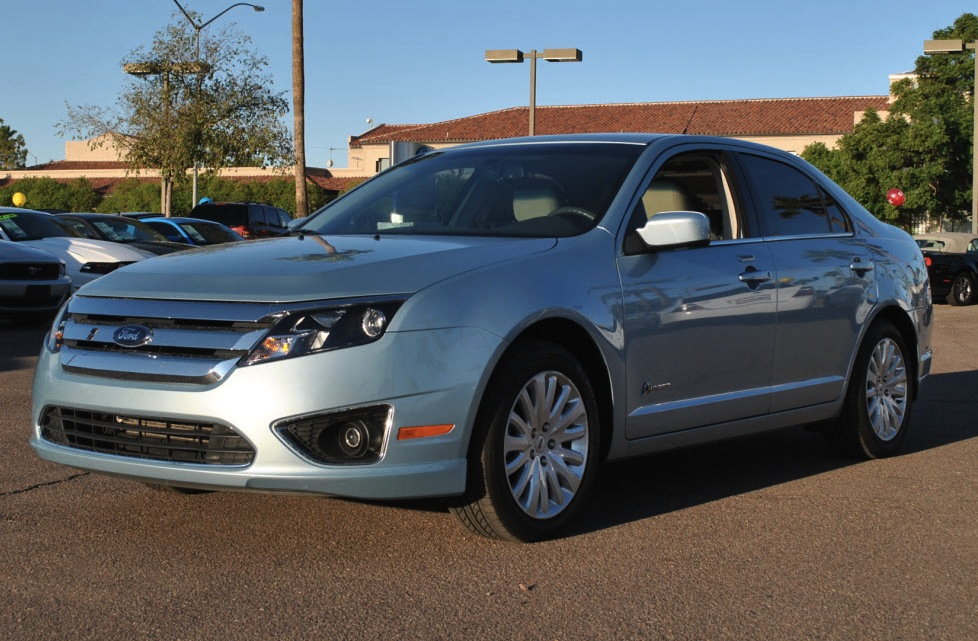 Example of Light Ice Blue paint on a 2011 Ford Fusion