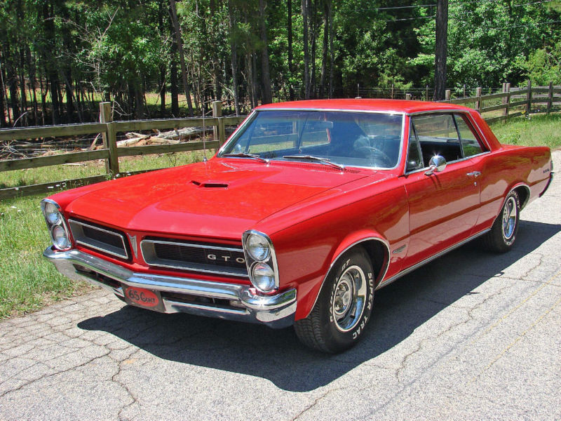 Chevrolet Pontiac Gto Red 1965 gm Pontiac Gto
