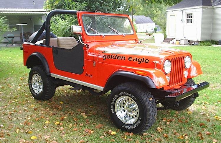 Sun Orange 1978 Jeep