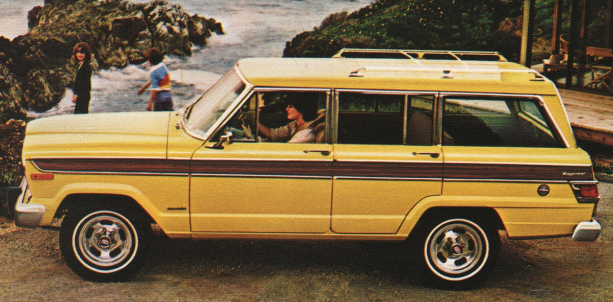 Example of saxon yellow paint on a amc 1979 jeep wagoneer