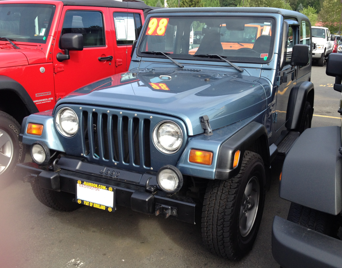 Gunmetal 1998 Jeep Wrangler - Paint Cross Reference
