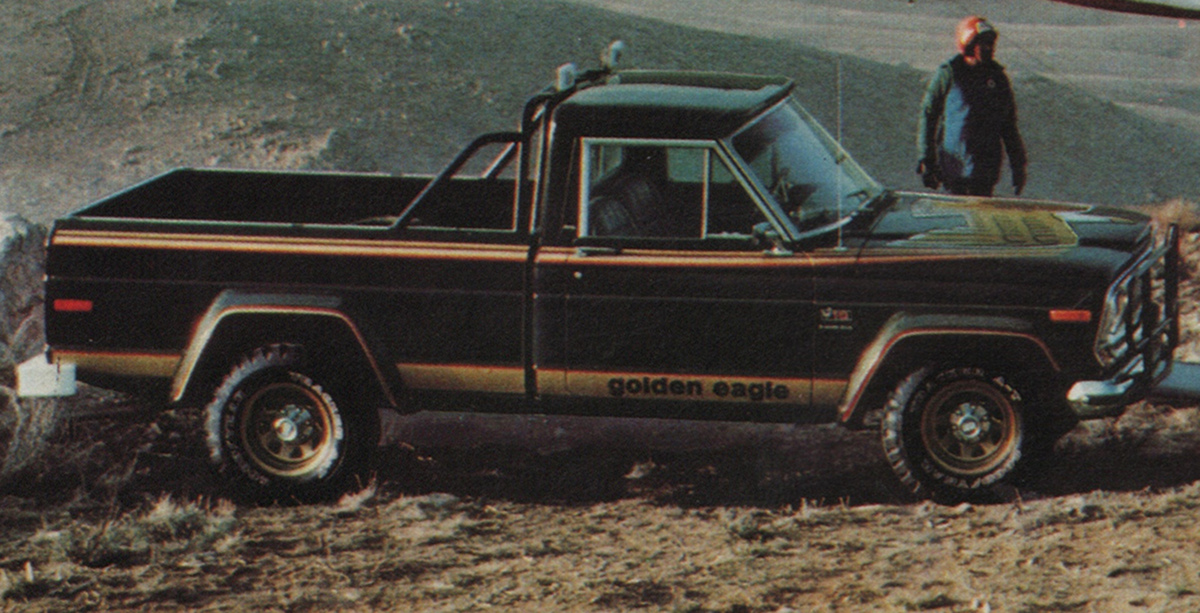 Black 1978 AMC Jeep  J-10 Golden Eagle Pickup
