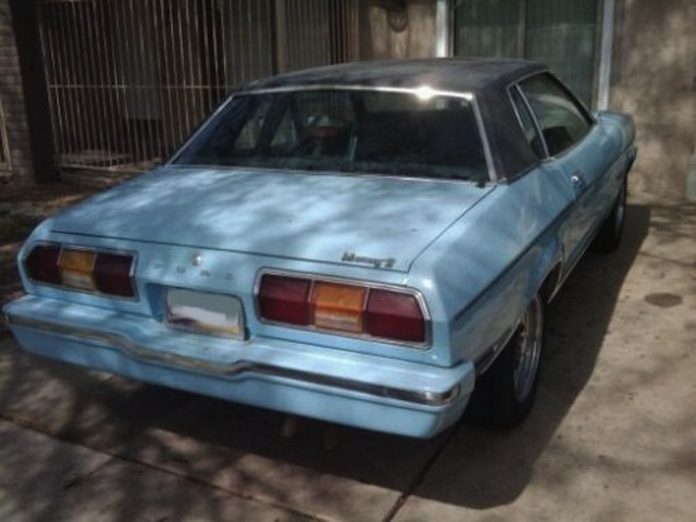 Pastel Blue 1975 Ford Mustang