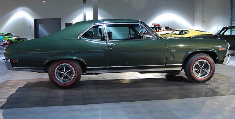 Fathom Green 1969 GM Chevrolet Nova