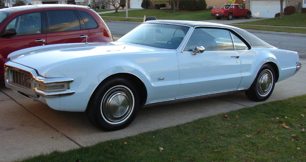 Powder Blue 1969 Oldsmobile Toronado