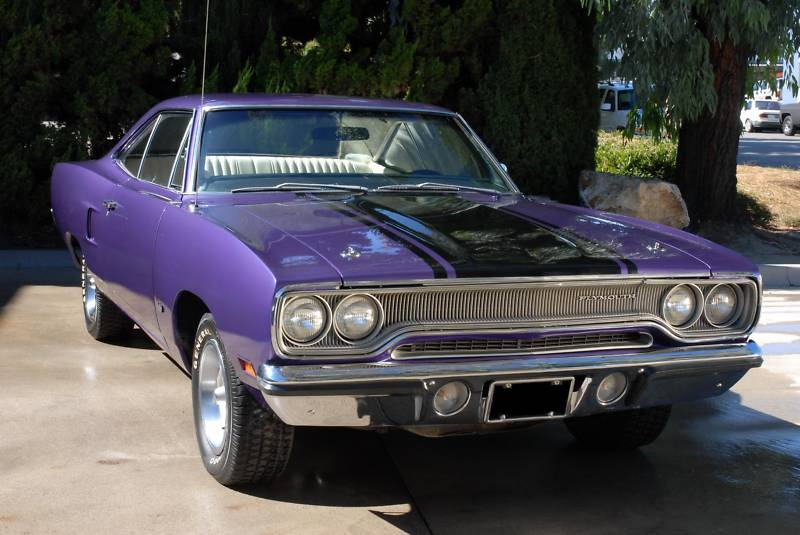 In Violet 1970 Plymouth