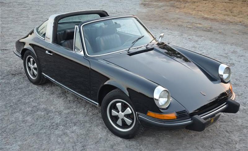 Black 1973 Porsche  911 T Targa