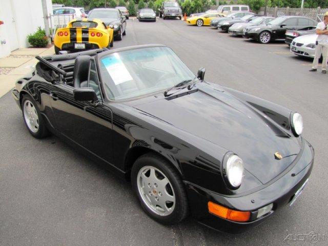 Black 1990 Porsche