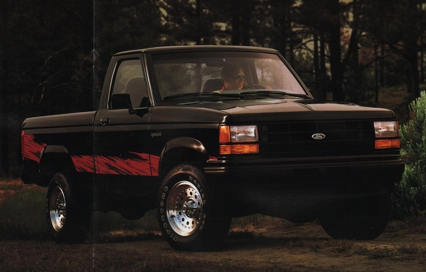 Black 1991 Ford Truck Ranger