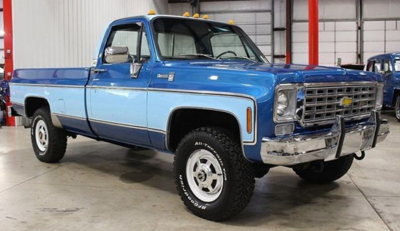 Hawaiian Blue 1976 Chevy Truck