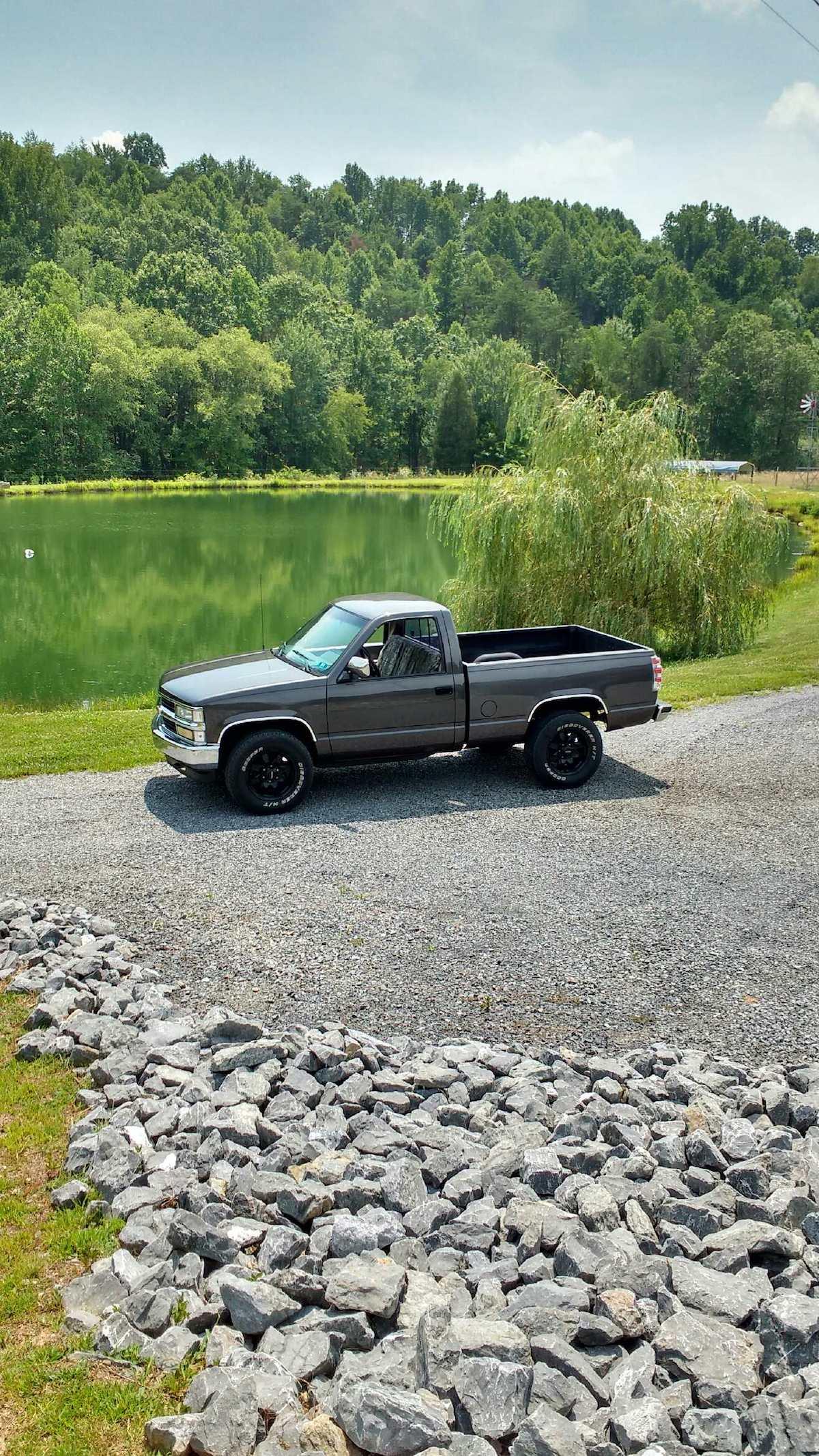Dark Gray 1992 Chevy Truck Silverado