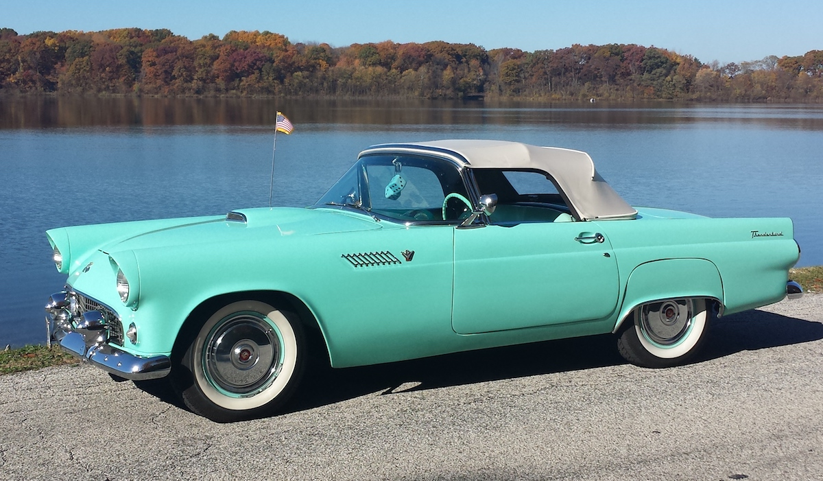 Thunderbird Blue 1955 Ford Thunderbird