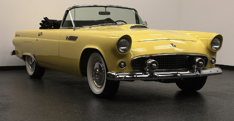 Goldenrod Yellow 1955 Ford Thunderbird