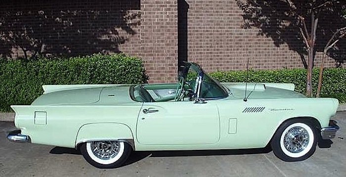 Willow Green 1957 Ford Thunderbird
