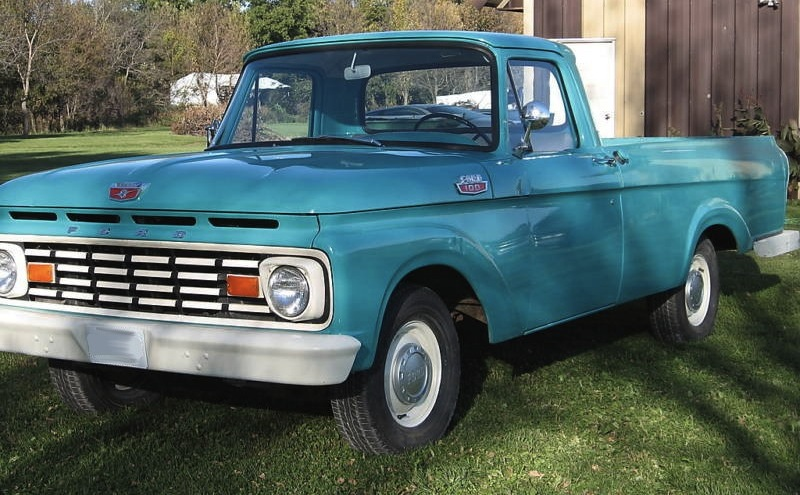 Caribbean Turquoise 1963 Ford Truck F100
