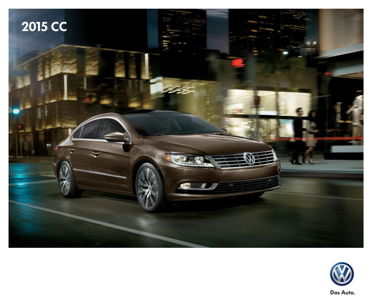 Volkswagen 2015 Cc Sales Brochure