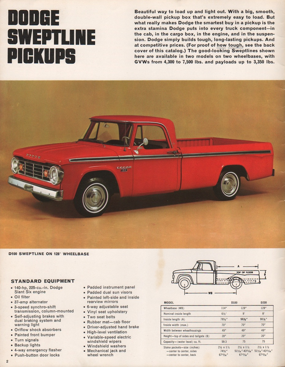 Chrysler 1967 Pickup Dodge Truck Sales Brochure 1949 D100 Company Marks Emblems And Designs Are Trademarks Or Service Of Please Respect The Time It Took To Acquire These Brochures