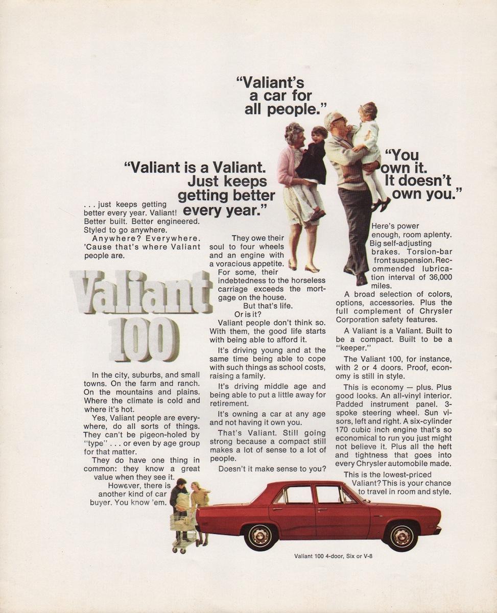 Valiant on 1989 Jeep Wrangler Sales Brochure