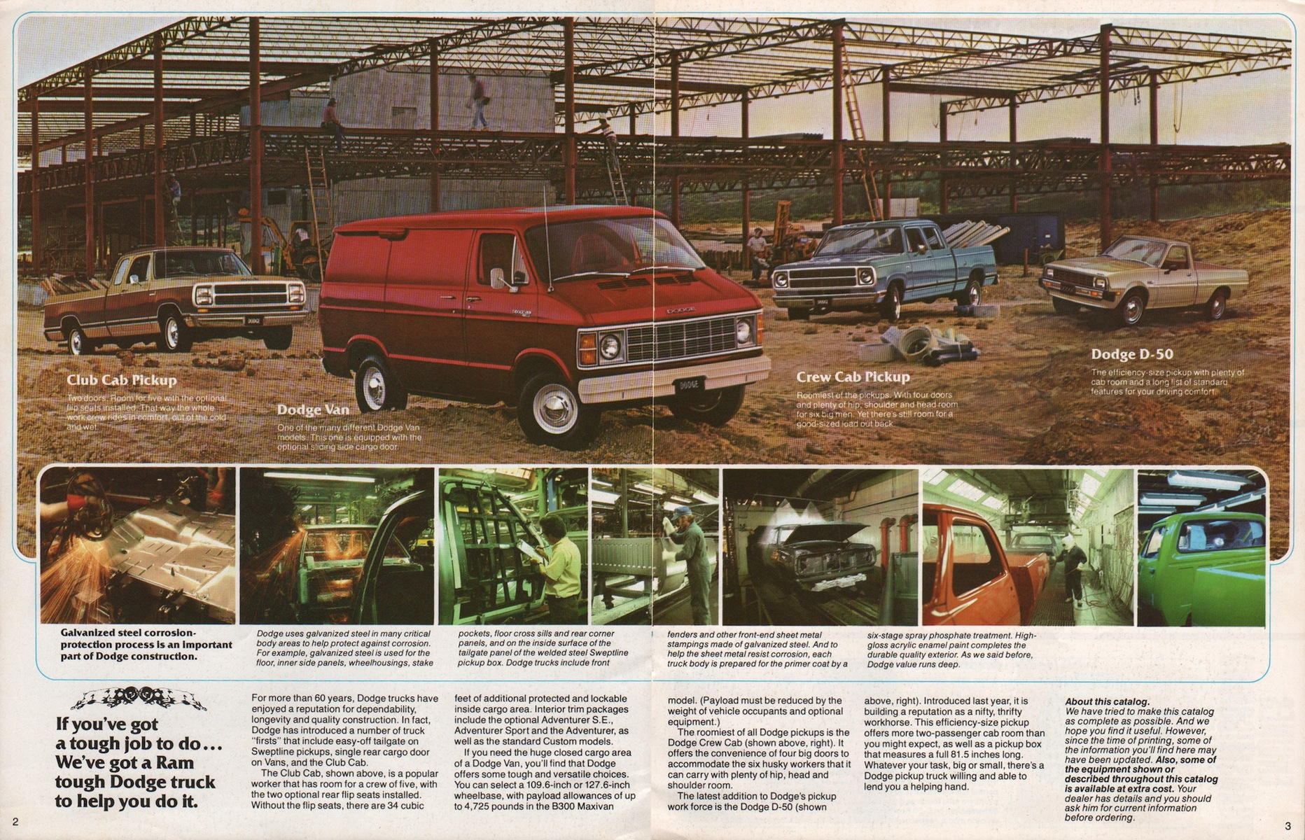 Chrysler 1980 Work Trucks Dodge Dodge Truck Sales Brochure