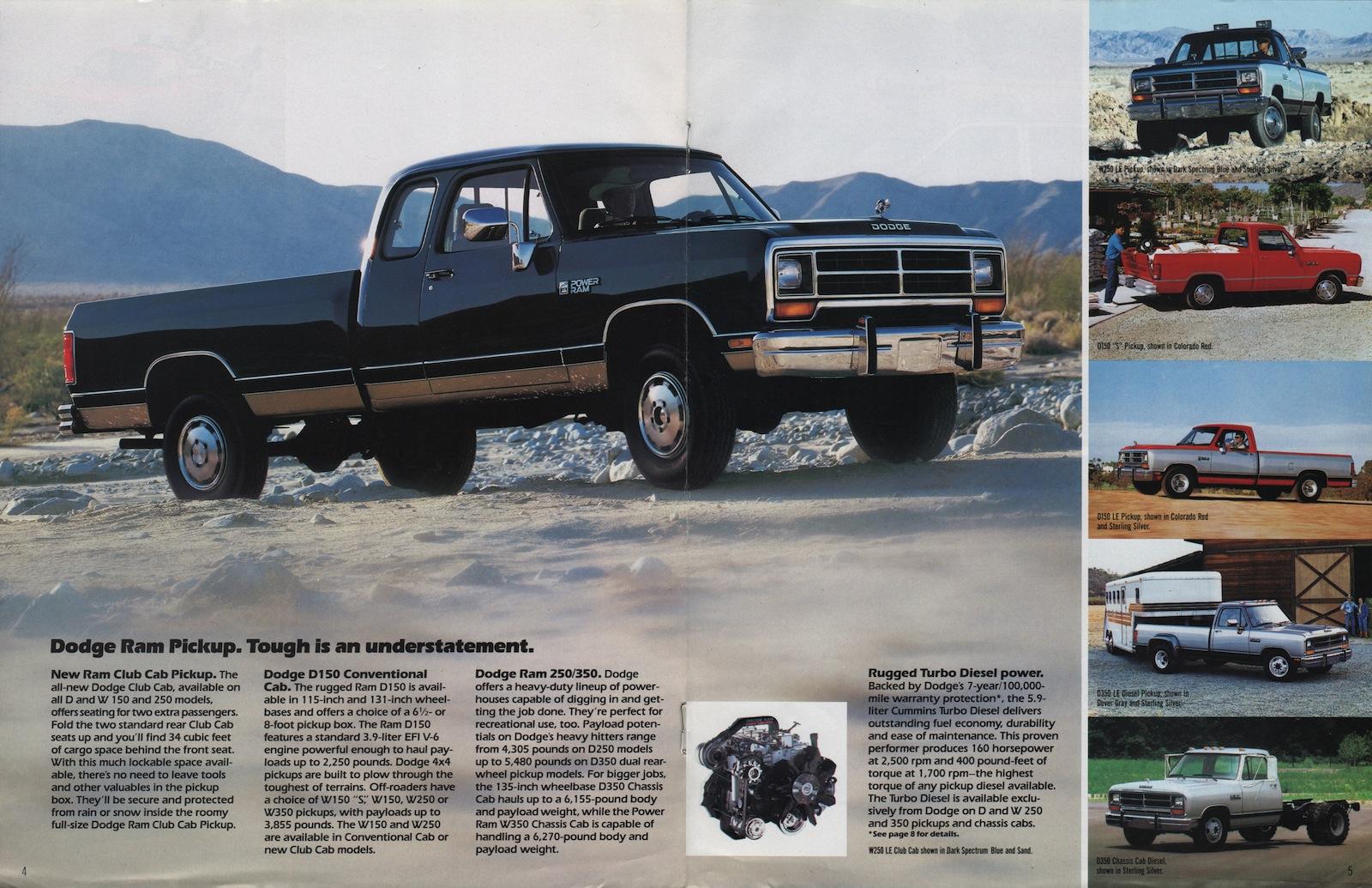 Chrysler 1990 Dodge Dodge Truck Sales Brochure