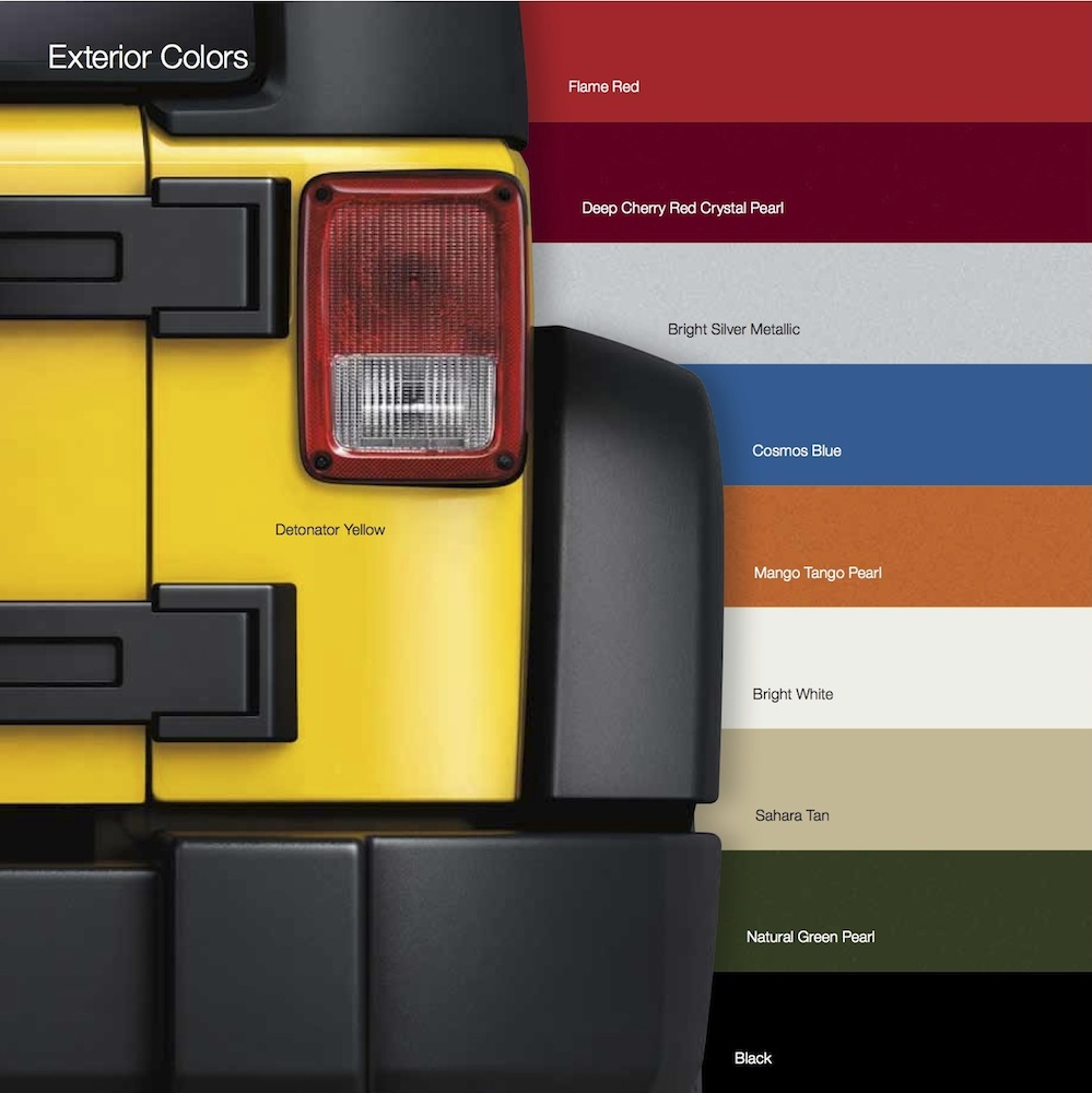 2016 Colors Offered In Canada Jeep Wrangler Forum