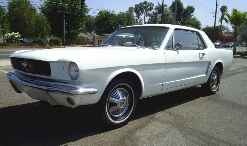 Wimbledon White 1964 Ford Mustang