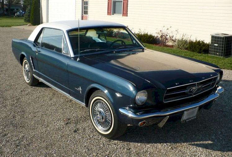 Caspian Blue 1964 Ford Mustang