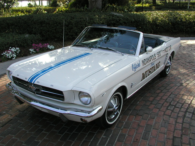Pace Car White 1964 Ford Mustang