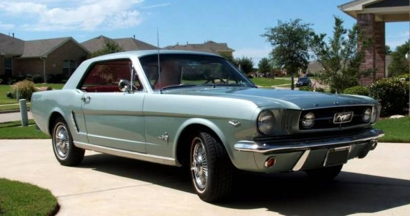 Silver Smoke Gray 1964 Ford Mustang