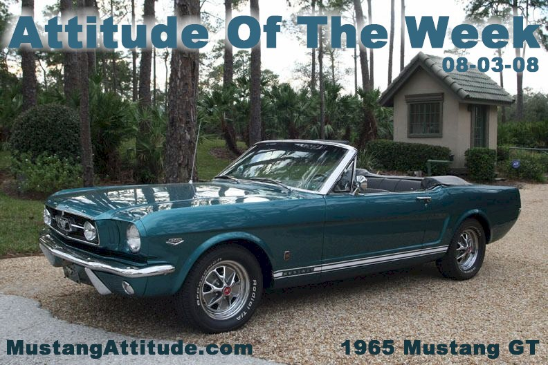 Tropical Turquoise 1965 Ford Mustang