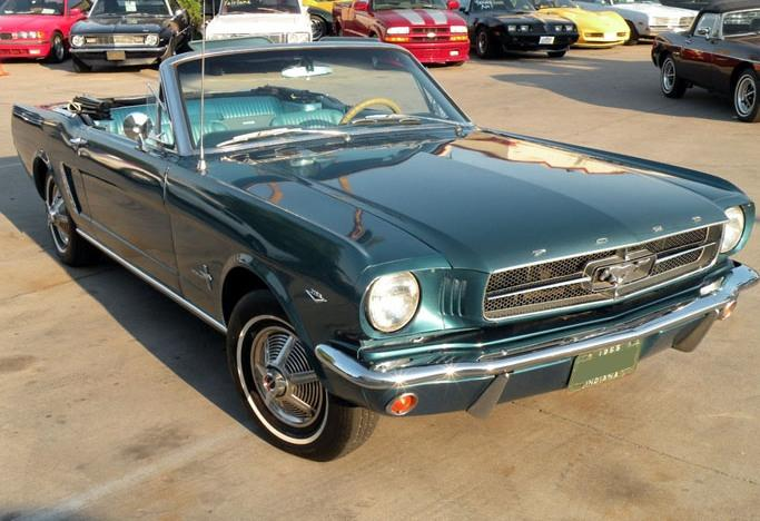 Twilight Turquoise 1965 Ford Mustang