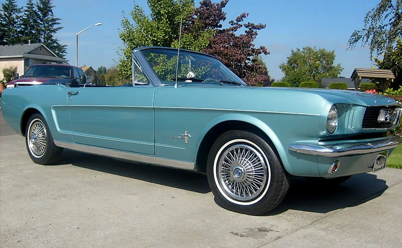 Tahoe Turquoise 1966 Ford Mustang