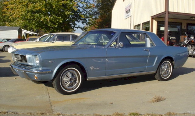 Silver Blue 1966 Ford Mustang